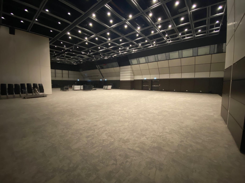 Main conference hall where the set up is going to be